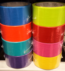 It's a rainbow of duct tape